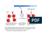 Direct Antiglobulin Test is Used to Demonstrate in Vivo Coating of Red Blood Cells With IgG Antibodies and Complement