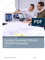 Catalog Training SITRAIN SIEMENS Romania