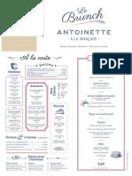 Carta Brunch Antoinette