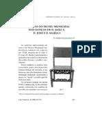 Cadeiras do Museu Municipal nos Estilos de D. João V, D. José e D. Maria I