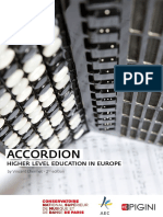 Accordion Higher Level Educationin Europe