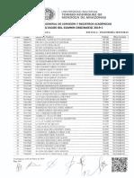 Resultado General Examen Admision Ordinario 2019-I