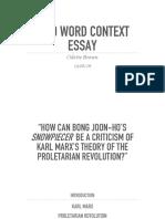 2000 Word Essay Presentation