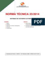 NT 23 Sistemas de chuveiros automáticos