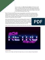 Retro Text Tutorial