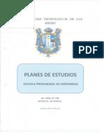 Plan de Estudios de La e.p. de Enfermería Vigente