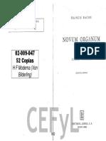 BACON ·NOVUM ORGANUM Libro I.pdf