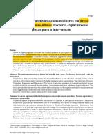 3. Saavedra et al. (2010). A subrepresentatividade das mulheres em áreas tipicamente masculinas - Factores explicativos e pistas para a intervenção
