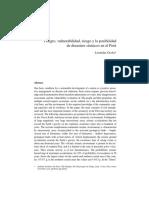 Peligro, Vulnerabilidad, Riesgo y La Posibilidad de Desastres Sismicos en El Perú (Revista)