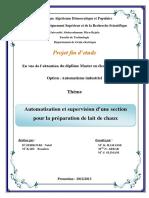 Automatisation Et Supervision D'une Section Pour La Préparation De Lait De Chaux.pdf