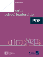 Successfull School Leadership