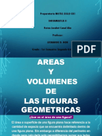 Áreas y Volúmenes de figuras geométricas