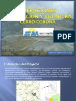 Perforación y Voladura Cerro Corona Presentación UNT