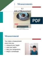 1.1 Units of Measurement