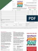 WalkandRoll Reg and Pledge 2019