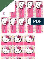 Etiquetas Escolares Kitty Carita