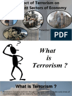 Terrorism affect on different industries