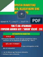 "Diabetic Retinopathy / ""SHMSHM"" / Halil Ajvazi -30-10-2010-SYMPOSIUM OF AAMDM"