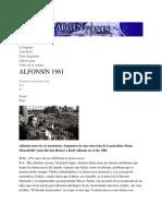 ALFONSÍN 1981 _ Argentones
