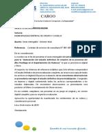 Carta de Presentacion de Sexto Entregable Aucayacu