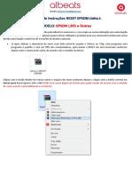 Manual de Instruções RESET EPSON Linha L395V5 (Albeats)