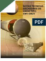 Notas tecnicas Secadores de vacio tipo EMV-EM2V