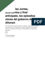 Juicio a Las Juntas, Alzamientos y Final Anticipado, Los Episodios Claves Del Gobierno de Alfonsín - Infobae