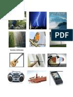 Clases de sonidos con imágenes ilustradas