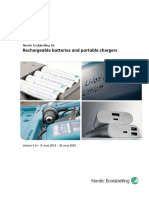 Criteria Document - Rechargeable Batteries - Version 5.0
