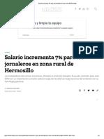 01-02-19 Salario Incrementa 7% Para Los Jornaleros en Zona Rural de Hermosillo