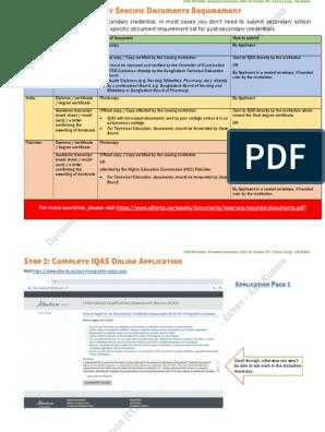 IQAS ECA guide | Diploma | Credential