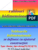 Tablouri bidimensionale