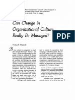 Can Change in Organizational Culture Really Be Managed by Thomas H. Fitzgerald