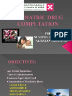 Paediatric Drug Computation