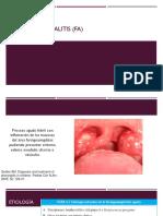 Faringoamigdalitis (FA)