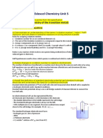 Notes on Chemistry unit 5 specification - George Lewis.docx