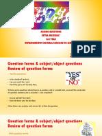 Presentación Question Formation 3rd Year