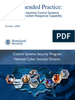 Recommended Practices for Developing an Industrial Control Systems Cybersecurity Incident Response Capability