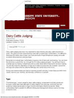 Dairy Cattle Judging Mississippi State University Extension Service