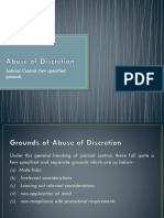 Excess or Abuse of Discretion