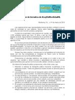 Comunicado presentación iniciativa #LeydeMovilidadNL