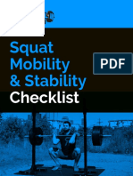 Squat Mobility and Stability Checklist