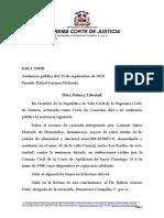 Carmen Hurtado de Hernandez vs Financiera Conaplan CporA