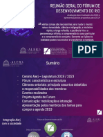 Apresentação da reunião geral do Fórum de Desenvolvimento do Rio - 2019