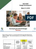 3-12-19 FY 2020 Budget Presentation