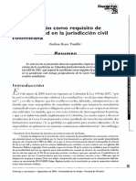 La Conciliacion como requisisto de Procebilidad en la Jurisdiccion Civil Colombiana.pdf