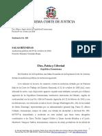 FALL_banco_agricola_de_la_republica_dominicana Sentencia de La Suprema Corte de Justicia Aplicando El Principio de Continuidad en Materia Laboral