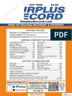 APRIL 2019 Surplus Record Machinery & Equipment Directory