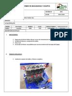 Informe Reparacion de Motor Media Vida Minicargador 242B2 Caterillar