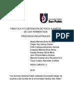 PRACTICA N°5 OBTENCIÓN DE PISCO A PARTIR DE UVA FERMENTADA
